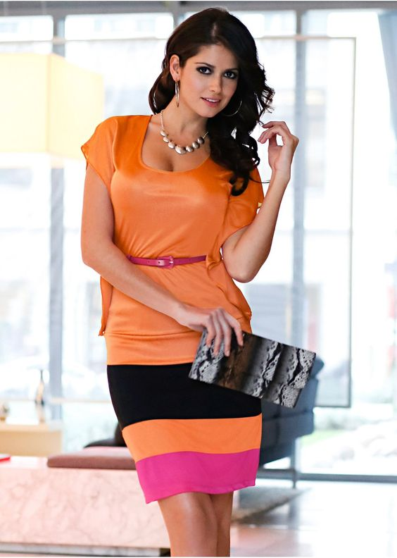 Orange / fuchsia / black