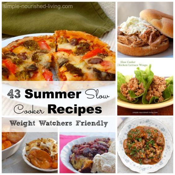 Weight Watchers Crock Pot Ideas: Summer Slow Cooker Recipes For Weight Watchers