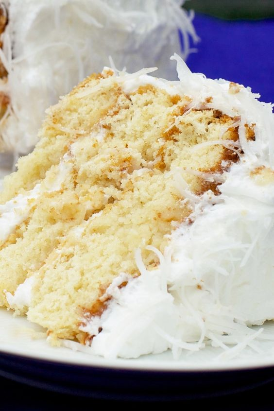 Fresh Coconut Cake with Lemon Cream Cheese Filling Recipe - moist ...