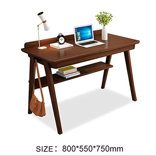 Qyn Solid Wood Large Desktop Computer Desk Durable Laptop Table With Drawer Bezel Solid Wood Writing Desk Wood Writing Desk Writing Desk With Drawers