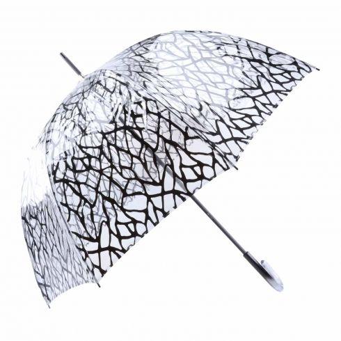 Paraguas transparente largo de tela araña