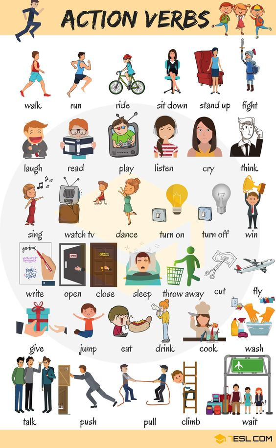 70+ Common Action Verbs in English | Vocabulary