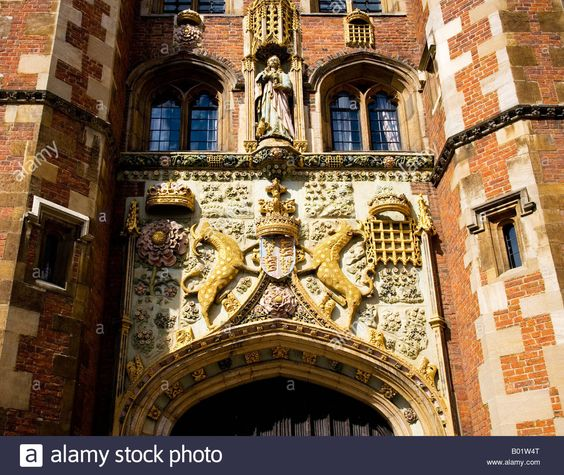 The Front Gate, St.John's College, Cambridge. The carving