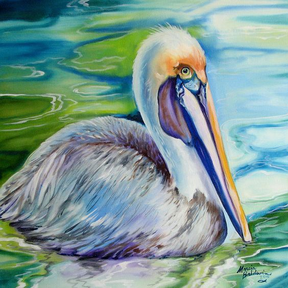 BROWN PELICAN of LOUISIANA Painting - BROWN PELICAN of LOUISIANA Fine Art Print - Marcia Baldwin