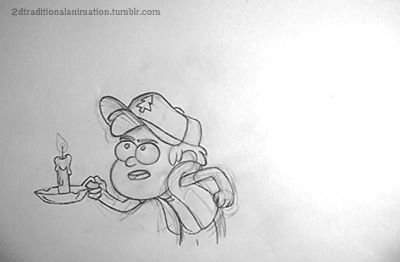 Dipper - James Baxter Original video: http://jbaxteranimator.tumblr.com/post/89039385924/pencil-test-time-this-is-the-tied-down-version-of
