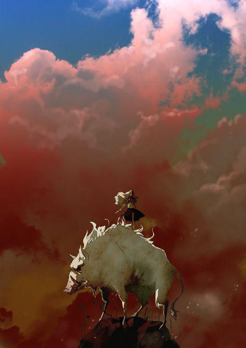 空が美しいもののけ姫