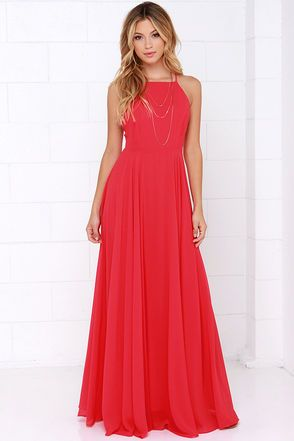 The Mythical Kind of Love Red Maxi Dress is simply irresistible in ...