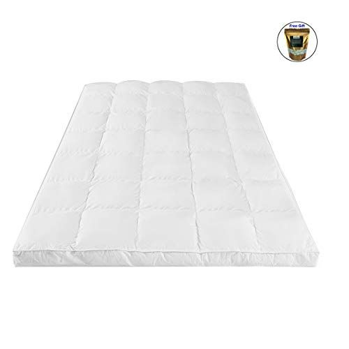 Cwy 4 Mattress Topper Hypoallergenic Microfiber Down Alternative Pad Full Size Organic Natural Silk Cocoons In 2020 Mattress Mattress Topper Gel Mattress Topper