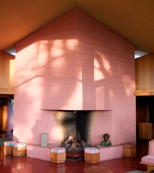 307 best Frank Lloyd Wright Fireplaces images on Pinterest | Frank ...