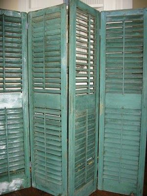 Find  Shutters....Paint them....Instant Card Display