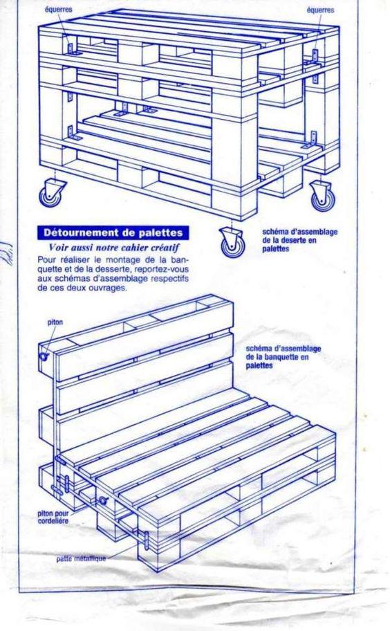 plans pour confectionner des meubles pour jardin avec des. Black Bedroom Furniture Sets. Home Design Ideas