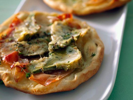 Minipizza met artisjok