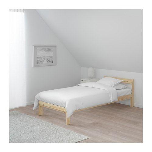 Neiden Bedframe Berken Grenen Luroy 90x200 Cm Ikea Bed