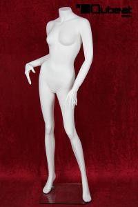 Weibliche Schaufensterpuppe weiß headless