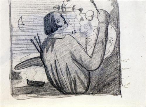 Study for Self-Portrait - Salvador Dali