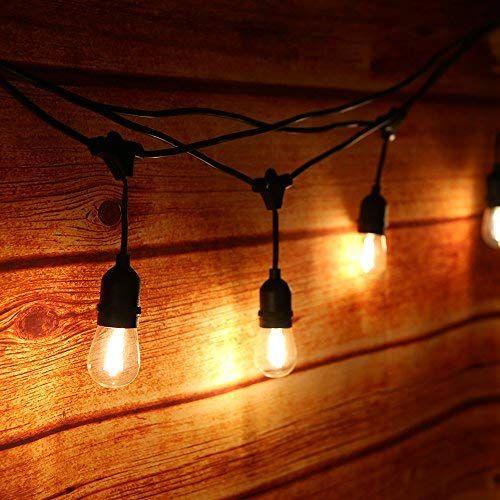 Lichterkette 15m Mit 15 E27 Led Gluhbirne Tomshine Ip65 Wasserdicht Fur Aussen Innen Led Retro Lampe Dekolampe Fur H Ampoule Led Guirlande Lumineuse Lumiere Led