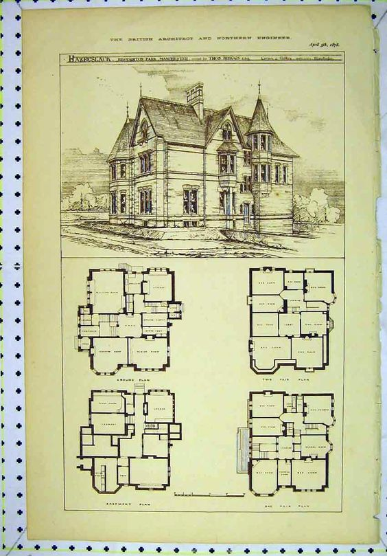 Vintage House House Plans Victorian Victorian House Plan House Design House Floorplans Victorian House Plans Old Victorian Homes House Plans