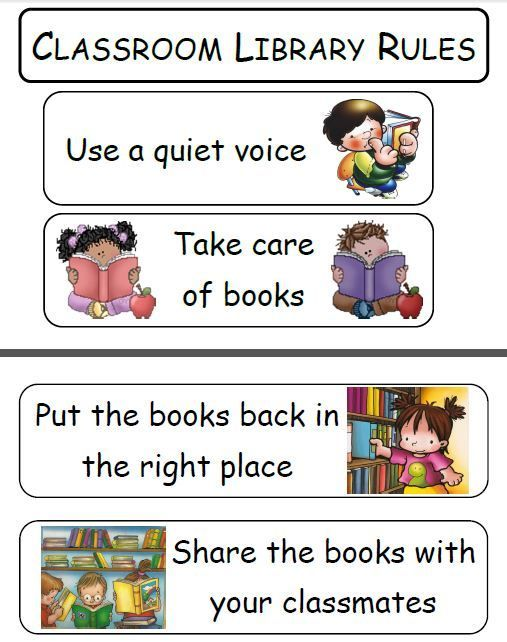 Library Rules Clipart 12 Library Rules Classroom Library Rules Kindergarten Library