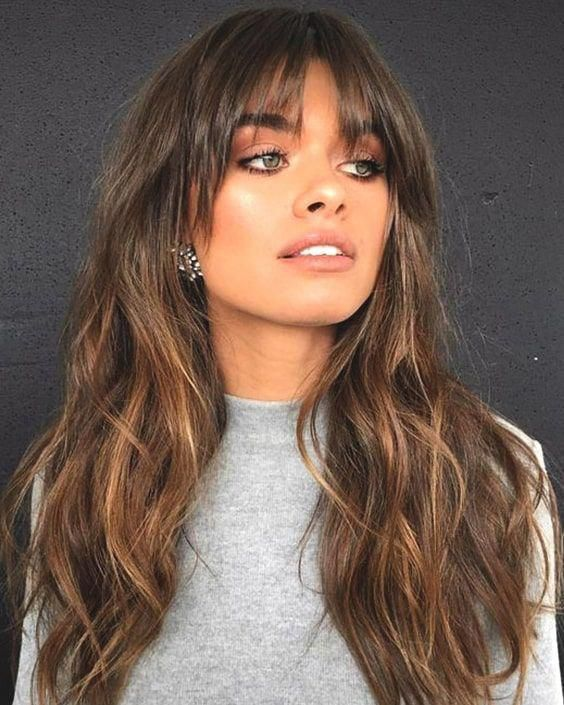 70s Bangs Haircut Mediumlonghair In 2020 Fall Hair Trends Thick Hair Styles Hair Styles
