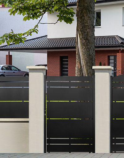 Portail, portillon, clôture acier - Hypion - ROY | jardin ...