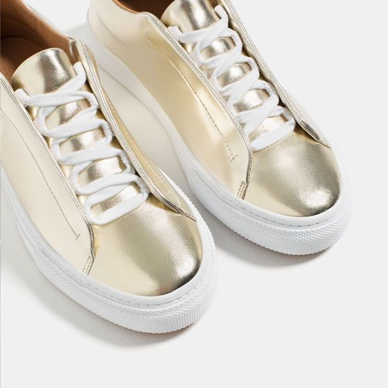 Image 3 of LAMINATED PLIMSOLLS from Zara