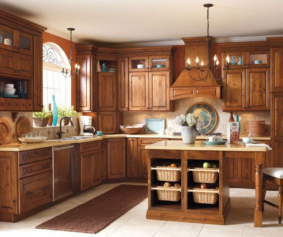 Whiskey black rustic alder lakehouse ideas pinterest for Alder kitchen cabinets pictures