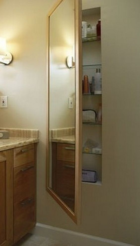 Extra Storage Medicine Cabinets And Cleaning Supplies On