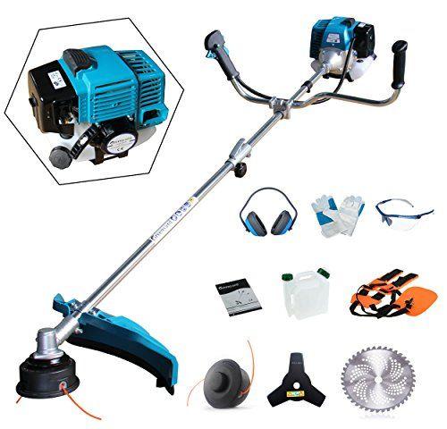 Greenyard 51 7cc Split Strimmer And Brush Cutter With 3 Blades Heavy Duty 99 99 Garden Yard Ideas Heavy Duty Garden Tools