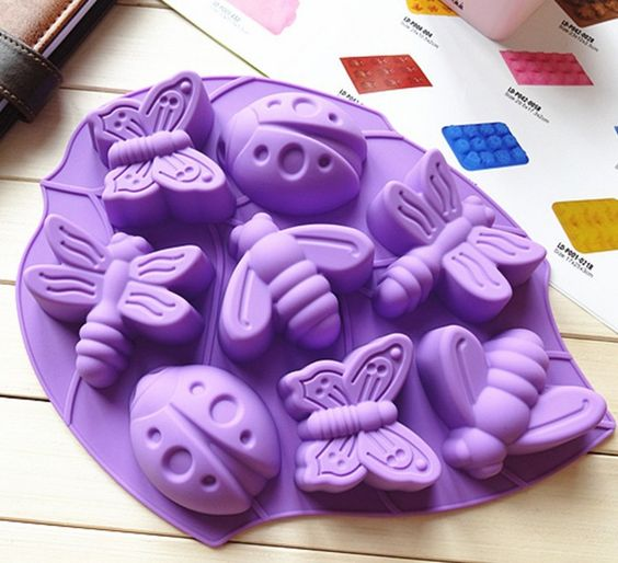 free shipping!  2013 new design 3d insect silicone mold, Chocolate candy cake Molds, Creative form for soap or food  for retail $7.36