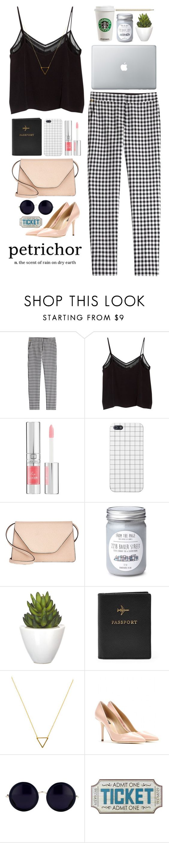 """Untitled #10"" by whortleberry ❤ liked on Polyvore featuring Diane Von Furstenberg, MANGO, Lancôme, Valextra, Pomax, Caran D'Ache, FOSSIL, Wanderlust + Co, Dolce&Gabbana and Linda Farrow"