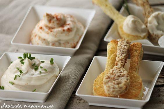 Mousse di formaggi per aperitivo Lavanda e rosmarino