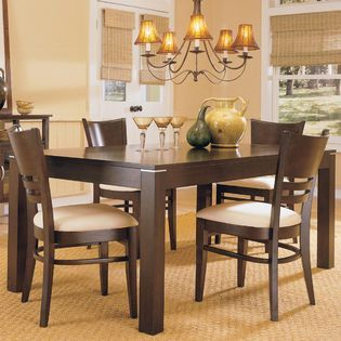 Beau Oxford Creek  5 Piece Dining Set In Espresso