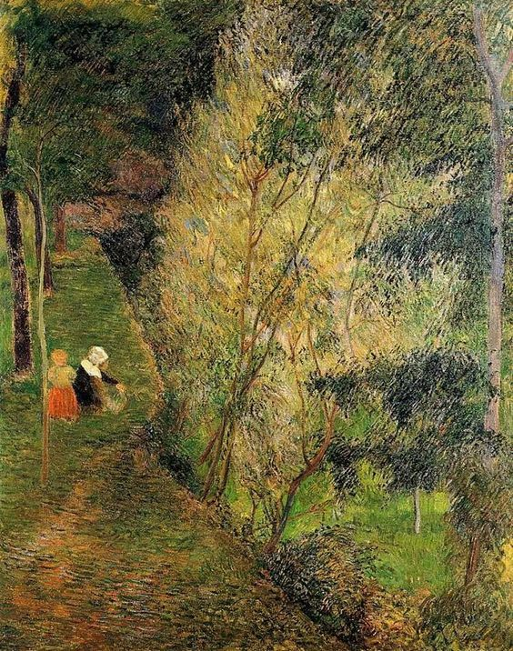 Paul Gauguin, Pint-Aven, Woman and Child, 1880