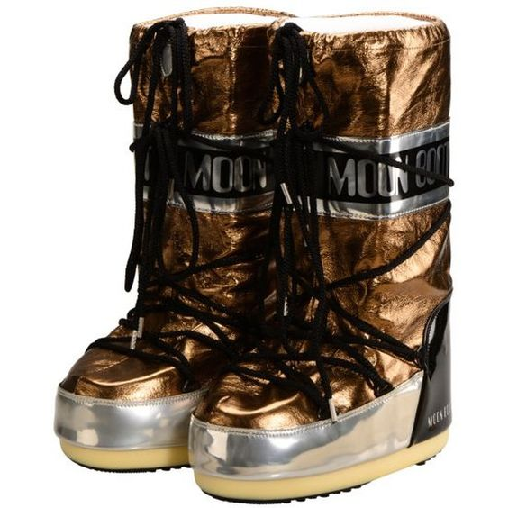 Moon Boot Satellite Moon Boots Bronze / Silber 1, 2 Moon... - Online Shop