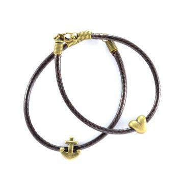Cute Vintage Anchor Heart Bracelets