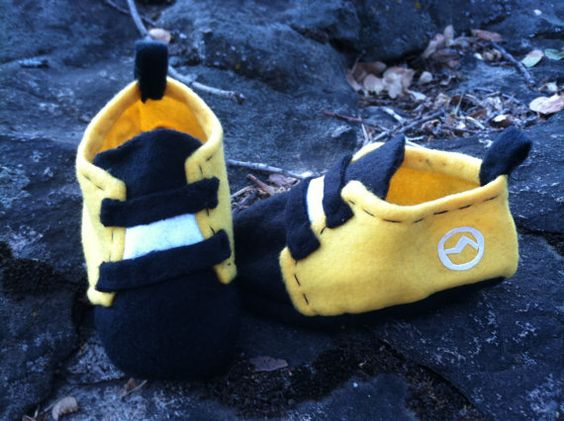 Baby Rock Climbing Shoes on Etsy, $12.00