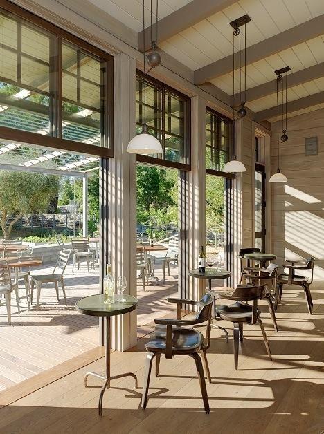 Restaurant visit medlock ames in sonoma restaurant for Indoor outdoor doors