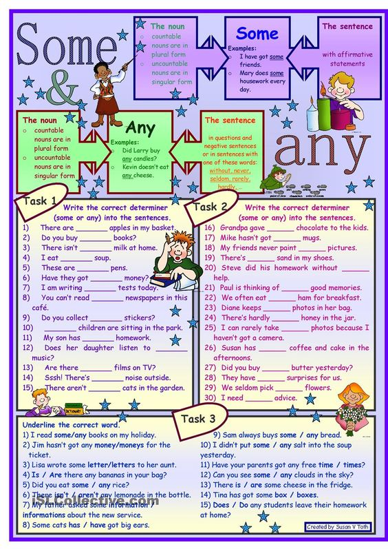 Some and any for elementary level * with key | Elementary ESL ...