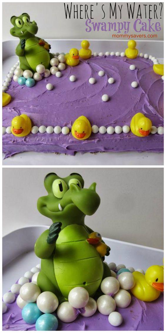 """DIY """"Where's My Water?"""" Swampy Birthday Cake"""