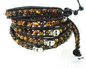 Artikel ähnlich wie Leather wrap bracelet, turquoise beads, Made to Order, personalized tag, sterling silver button auf Etsy, dem weltweiten Markt für Handgemachtes und Vintage.