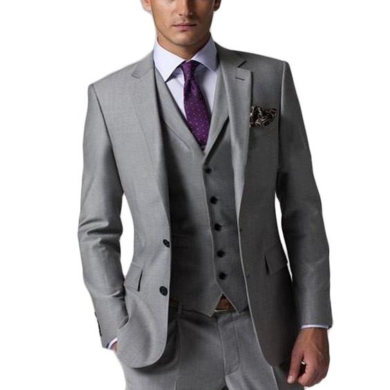 Italian 2015 Custom Made wedding suits mens Tuxedos mens suits two buttons best men suits( jacket+Pants+vest+tie)(China (Mainland))