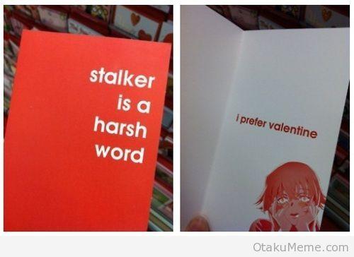"""Mirai Nikki (Future Diary) - I Prefer Valentine """"Dear Yuno, You made the entire series. Love, The entire fandom xx"""""""