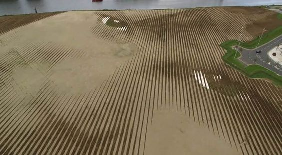 8 Million Pounds of Soil Shaped Into Huge 11-Acre Portrait: Cuban-American artist Jorge Rodriguez-Gerada takes landscaping to an entirely new level with his enormous portrait art.