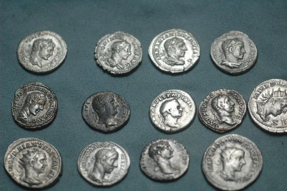 13  Roman Silvercoins  by AncientCoinstore on Etsy
