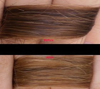 Great hair lightening system..Just did it!!  ~3 tablespoons hydrogen peroxide 6%  ~1 tablespoon water  ~1 tablespoon lemon juice  Mix the ingredients and apply to your hair.You can leave it in over night or use a straight iron to get the same effect.It works great!!  (sorry not link)