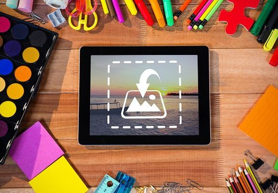 Tablet with various stationery @creativework247