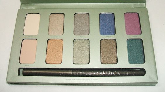 Stila In the Garden palette. I love, love, love this palette! It is perfect for my skin and they way I wear makeup and the colours are gorgeous, pigmented but not crazy and they all blend like a dream and... and... Did I mention that I love this palette?     *fanning self*