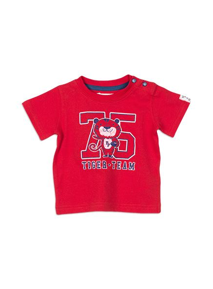Baby Boys + Accessories Tiger Team Top Blazing Red tee