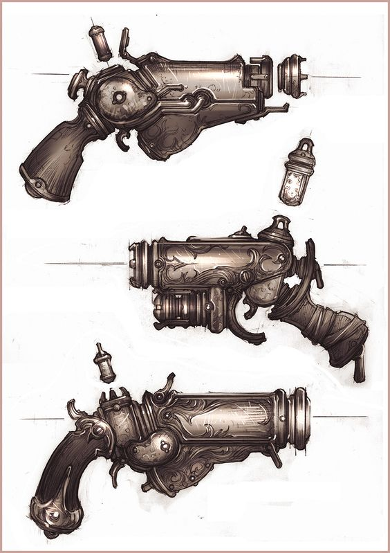 Steampunk gun | Create your own roleplaying game books w/ RPG Bard: www.rpgbard.com | Pathfinder PFRPG Dungeons and Dragons ADND DND OGL d20 OSR OSRIC Warhammer 40000 40k Fantasy Roleplay WFRP Star Wars Exalted World of Darkness Dragon Age Iron Kingdoms Fate Core System Savage Worlds Shadowrun Dungeon Crawl Classics DCC Call of Cthulhu CoC Basic Role Playing BRP Traveller Battletech The One Ring TOR fantasy science fiction horror
