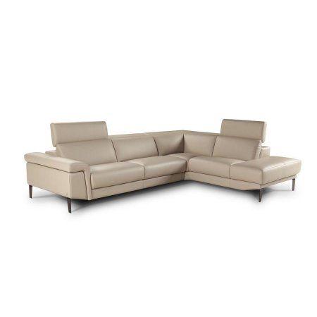 J Sharon Modern Beige Full Top Grain Leather Italian Sectional Sofa Right Hand Leathersectionalsofas Sectional Sofa Sectional Sofa Couch